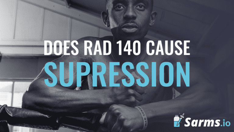 Testosterone suppression from RAD140